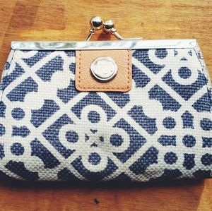 Spartina 449 White and Blue Coin Purse